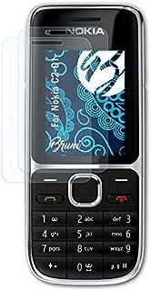 Bruni Skärmskydd är kompatibel med Nokia C2-01 Film, kristallklart Skyddsfilm (2X)