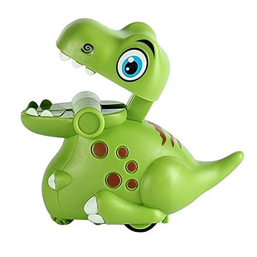 QiKun-Home Pressé Petit Dinosaure inertie Jouet Voiture Dessin animé Jouets pour Enfants Toboggan inertie Jouet Jeu éducatif compétition Vert