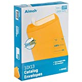 100 10 x 13 Self-Seal Brown Kraft Catalog Envelopes - 28lb, 100 Count, Ultra Strong Quick-Seal, 10x13 inch (39300)