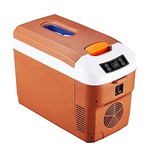 GL- Frigorifero Portatile da 12 Litri Mini Frigorifero per Auto RV Caravan e Barca 12v / 24v / 220v Congelatore Compatto Piccolo Dispositivo di Raffreddamento Elettrico - Marrone/Nero