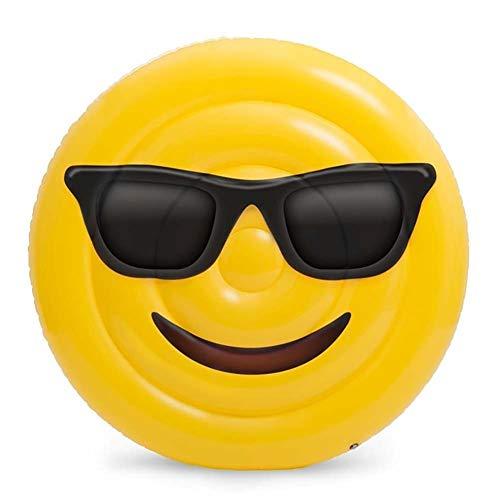 Flotteurs De Piscine Gonflable Raft Smile Visage Chaises Longues en Plein Air Natation Loisirs Siège De l'eau Fun Fun Creative Jouet Géant pour Adultes Enfants