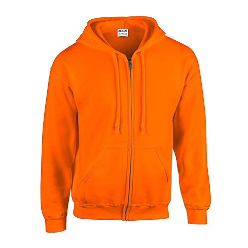 Gildan - Kapuzen-Sweatjacke 'Heavyweight Full Zip' XL,Safety Orange