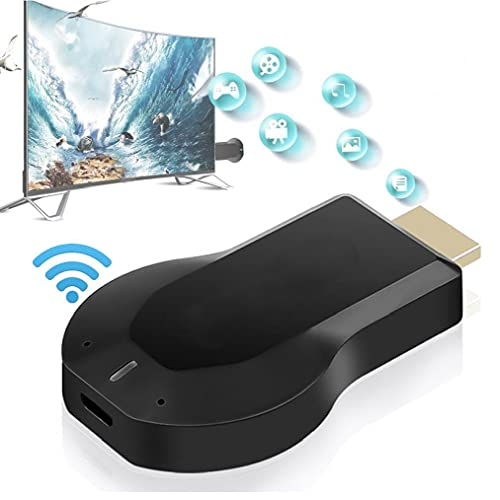 Wireless Screen Device WiFi HDMI Receiver Screen Mirroring Adapter for Android/iPhone/IPad/Windows/Miracast/Mac OS to TV/Projector/Monitor- Black,Projector