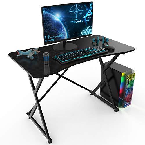 Computer Desk, Gaming Desk, X Shaped Office Desk, Ergonomic Home Office Writing Study Desk, Modern Computer Game Table 43.3', Office Writing Workstation for PC Laptop