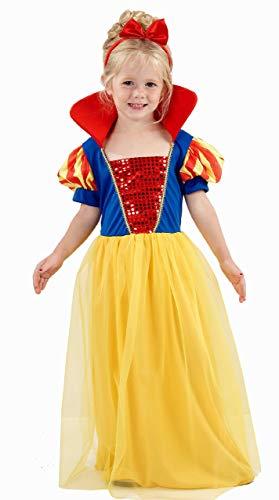 Kleinkind Mädchen Prinzessin Kostüm Schnee 3 Jahren