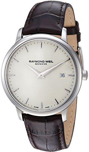 Raymond Weil Reloj Analógico para Hombre de Cuarzo con Correa en Cuero 5488-STC-40001