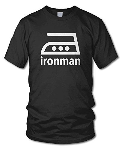 Ironman - Fun T-Shirt - Kult - Schwarz - Größe XL