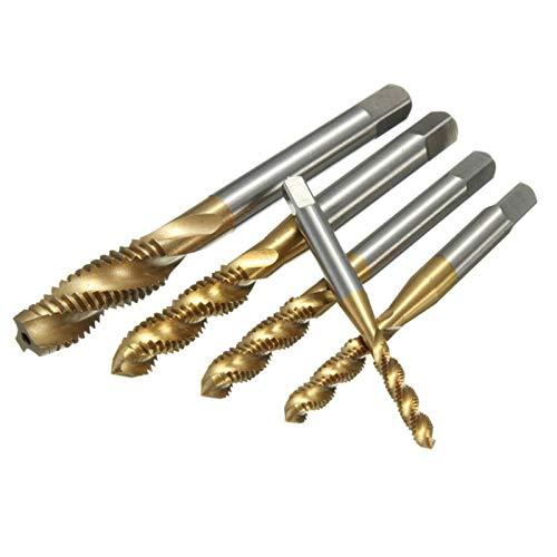 kengbi bit de la perforación del refrán 5pcs 14-22mm M3 M4 M5 M6 M8 HSS Tapas métricas de Flauta de Flauta Espiral Conjunto de toques de Tornillo para Madera de Metal plástico Tapping de plástico