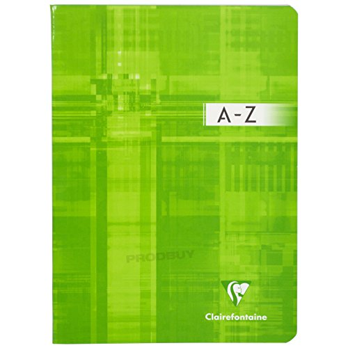 A5 Vocabulary Book A-Z Tab Centre Margin Lined Paper Notebook Revision Note Pad (Green)