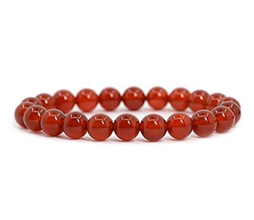 Natural Carnelian Gemstone Bracelet 7 inch Stretchy Chakra Gems Stones Healing Crystal Energy Quartz Rocks GB8-29