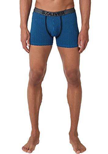 s.Oliver Herren 26.899.97.4275 Boxershorts, Blau (Medium Blue+Dark Blue 18d3), XX-Large (Herstellergröße: 8)