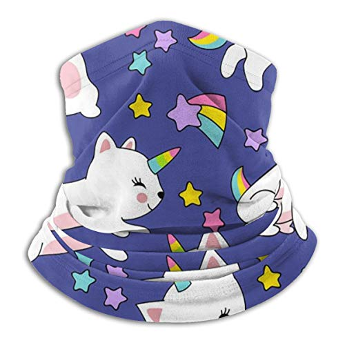 SARA NELL Cute Cats Unicorn Pattern For Kids Neck Gaiter Face Mask Bandanas For Dust/Outdoors/Multi-purpose Face Cover,Neck Gaiter For Men And Women