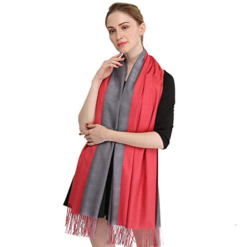 Longwu Cashmere Wrap Shole Chal para Mujer Invierno Extra Grande (79
