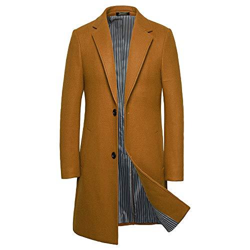Match Mens Wool Blend Classic Pea Coat Winter Coats(010, Claret Small)