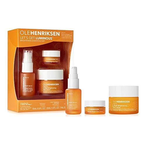 "Ole Henriksen ""Let's Get Luminous"" Aufhellendes-Serum, Vitamin C Essentials-Truth-Serum 15 ml, Aufhellende Gel Creme 30 ml, Banana Bright Augencreme 7 ml"