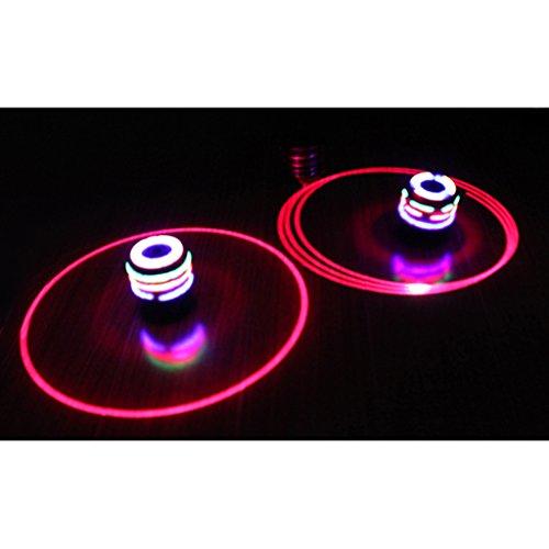 Non brand Sharplace 2pcs Romanzo Flash Led Luce Trottola Gyro Peg-top Con Musica Canzone Giocattolo Grande Regalo Per I Bambini Gioco All'aperto
