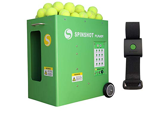 Main Power model Spinshot Player Tennis Ball Machine with Remote Watch Option