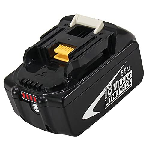 Kengdor 18V 5.5Ah BL1860B Ricambio per Makita 18V Batteria BL1860 BL1850B BL1850 BL1840B BL1840 BL1835 BL1845 194204-5 LXT-400 con indicatore LED