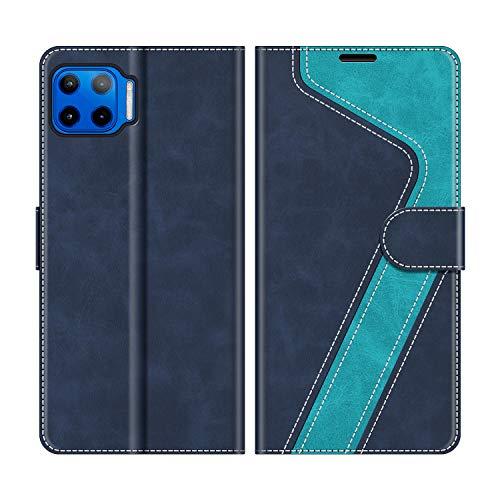 MOBESV Funda para Motorola Moto G 5G Plus, Funda Libro Motorola Moto G 5G Plus, Funda Móvil Motorola Moto G 5G Plus Magnético Carcasa para Motorola Moto G 5G Plus Funda con Tapa, Azul