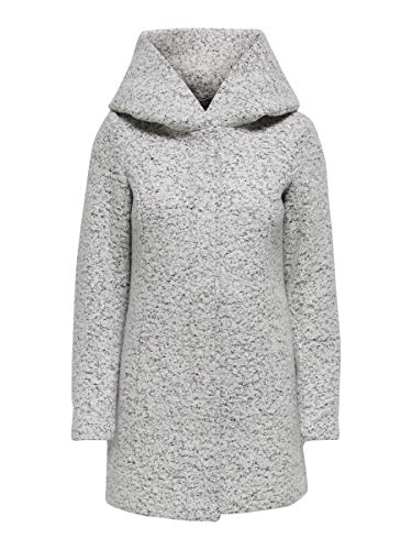 Only ONLNEWSEDONA Wool Coat CC OTW Abrigo de mezcla de lana, Cloud Dancer, XS para Mujer