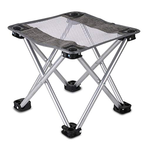 KJGHJ Outdoor Folding Hollow Mesh Stool Portable Camping Chair Fishing Stool Leisure Ultralight Small Bench Folding Small Bench (Color : Gray)