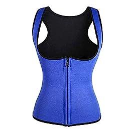 Gebuter Vest Corset Fitness Body Shaper Women Waist Trainer Workout Slimming Tops Women Zip Sports Vest
