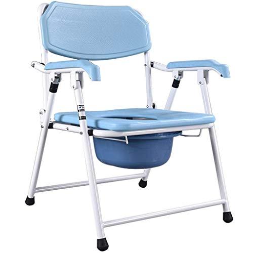 AJH Praktischer Toilettenstuhl Toilettensitz für ältere Menschen Mobiler Toilettenstuhl Einfach zusammenklappbares ergonomisches Design für 150 kg
