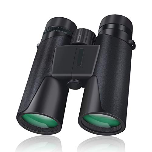 10 x 42 Binoculars for Adults & Bird Watching Binoculars, BAK4 Prism, FMC Lens, 1.10lb Light Binoculars, with a Smartphone Adapter, for Bird Watching, Hunting, Travel, Sports Events