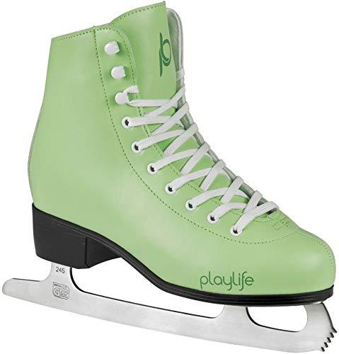 Playlife Eiskunstlauf Schlittschuhe Classic White | Knöchelpolster | Damen | Größe 39 Mint