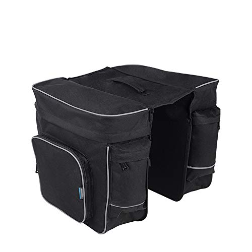 Buy Bargain Jeterndy Bicycle Bag 30L Double Pannier Bag Reflective Bike Rear Seat Trunk Bag Bicycle ...
