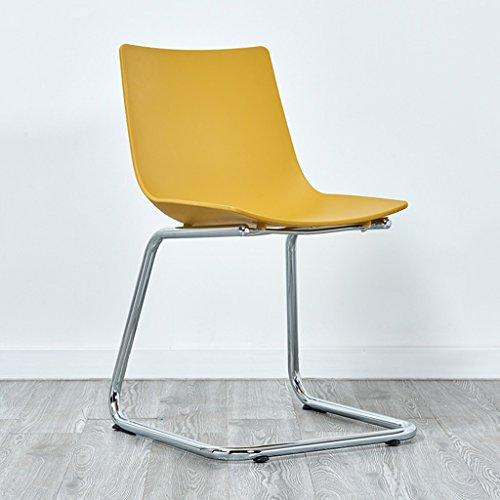 CKH Moderno Simple Casual Fashion Chair Back Office Talk Recepción Salón Reunión Computer Chair (Color : Yellow)