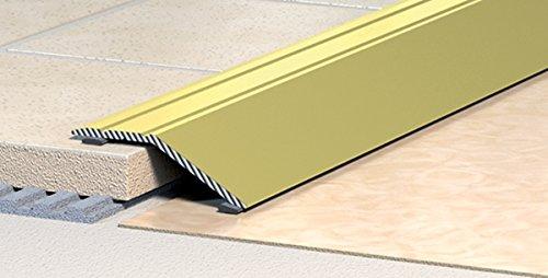 Übergangsprofil - Dehnungsprofil - Teppichschiene - Abschlussprofil - Anpassungsprofil - Ausgleichsprofil -selbstklebend -Alu-eloxiert-Natur-silber:Breite 35 mm (Höhenausgleich bis 8 mm) Länge: 900 mm (3)