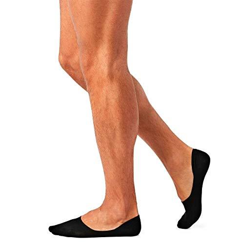 12 Paia Salvapiedi Da Uomo, Pedalini In Cotone, Fantasmini Scollati Sneaker Calze Invisibili in Cotone, Calze Corti Traspirante Sportive con taglio basso, (12 Nero, 42-45)