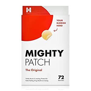 THE ORIGINAL AWARD-WINNING ACNE PATCH. Mighty Patch is a hydrocolloid sticker that visibly flattens pimples overnight. No popping necessary. Just stick it on, get some beauty sleep, and wake up with clearer skin. SHRINKS ZITS IN 6 HOURS. With 50% mor...