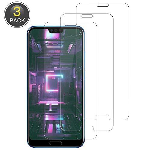 Wiestoung Cristal Templado para Huawei Honor 10, [3 Pack] Protector de Pantalla [9H Dureza ] [Sin Burbujas] [2.5D Borde Redondo] HD Film Vidrio Templado para Huawei Honor 10