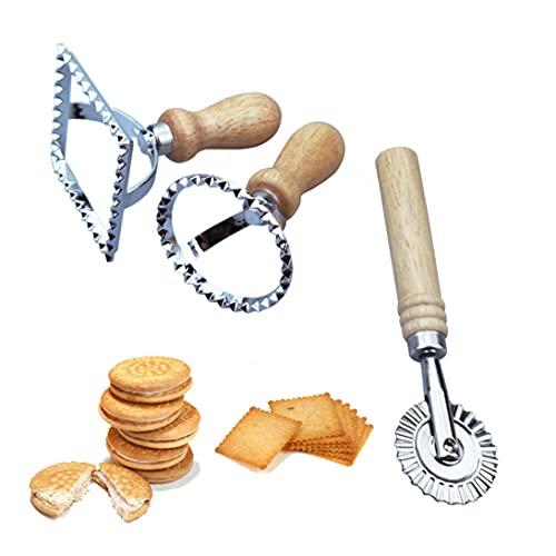 Set di 3 stampi per ravioli, per ravioli, per ravioli, pasta, lasagne, boccioli, diverse forme