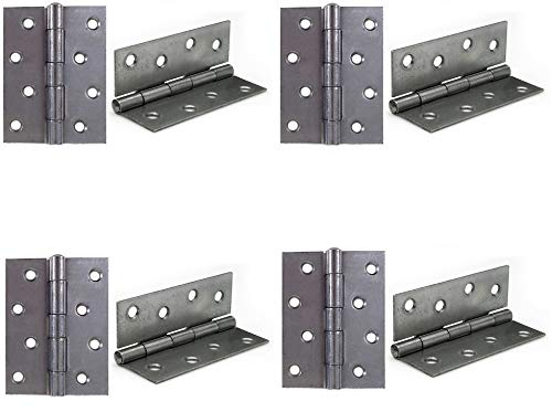 XFORT® 4 Pairs 100mm Butt Hinges for Internal Doors, 100mm...