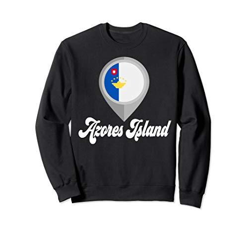 AZORES ISLAND Flag PIN Tshirt I Love Travel Tee Sweatshirt