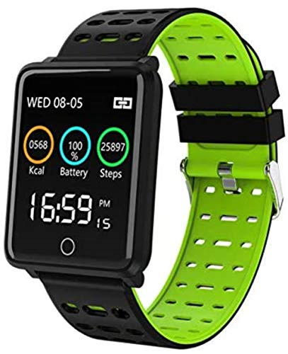 SportSmart impermeabile Uomini Donne Fitness Tracker Blue Clock elettronico intelligente,verde