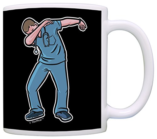 Male Nurse Gifts Dabbing Nurse Nurse Accessories and Gifts for a Male Nurse Gag Gift Coffee Mug Tea Cup Black