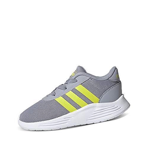 adidas Lite Racer 2.0 I, Zapatillas Deportivas, Halo Silver Acid Yellow FTWR White, 25 EU
