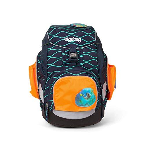 Ergobag Sicherheits-Set mit Seitentaschen 3-teilig, Pack/Cubo/Cubo Light, Orange