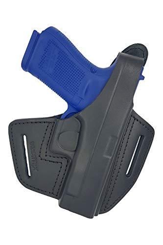 VlaMiTex B39 Fondina in pelle da cintura per pistole Glock 17 19 22 23 25 31 32 34 37
