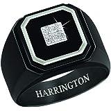 The Danbury Mint Black Ice Men's Diamond Personalized Ring - Size 13#4683-007