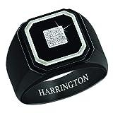 The Danbury Mint Black Ice Men's Diamond Personalized Ring - Size 11#4683-007