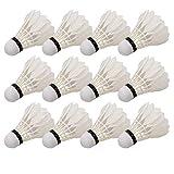 VGEBY1 Palla da Badminton, Palline da Badminton Professionale da 12 Pezzi con volano per Allenamento di Badminton