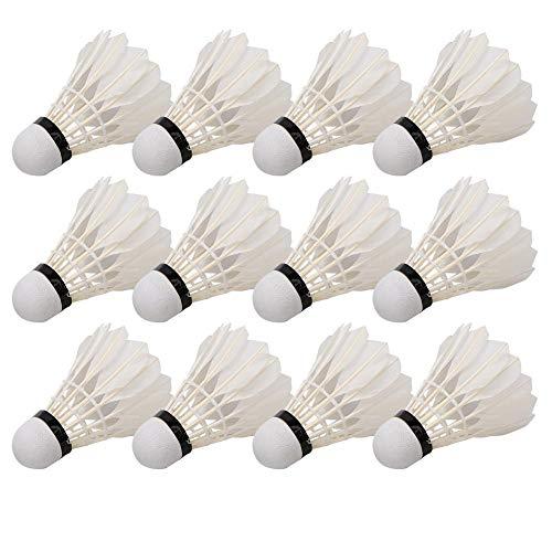 Volantes de bádminton, paquete de 12 pelotas de bádminton