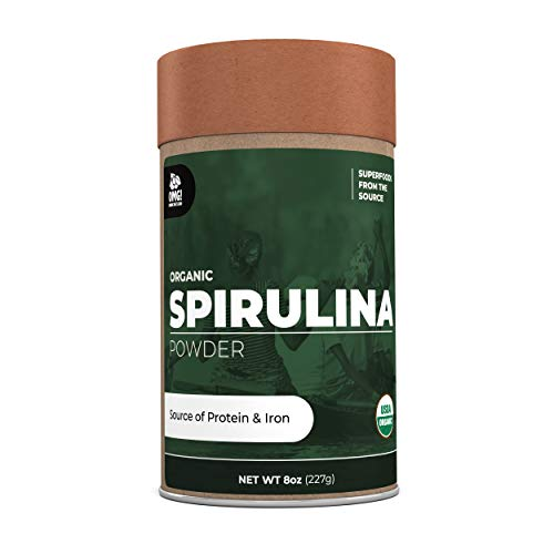 OMG! Superfoods Organic Spirulina Powder - 100% Pure, USDA Certified Organic Spirulina Powder – 8oz