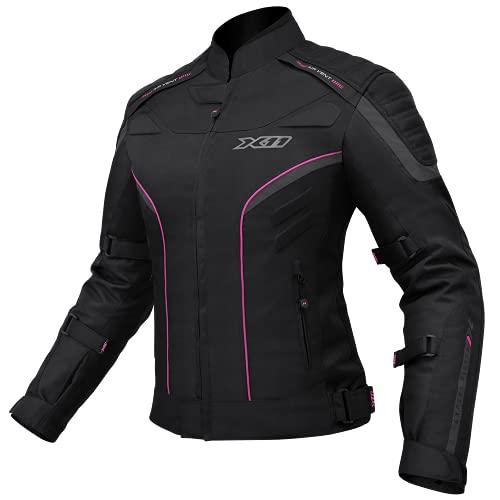 Jaqueta X11 IRON 2 Feminina Nylon Preta com rosa Proteção
