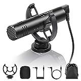 TARION Videocamera Microfono a fucile esterno per videocamera con microfono...